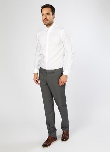 Fabrika Uzun Kollu Klasik Gömlek Beyaz
